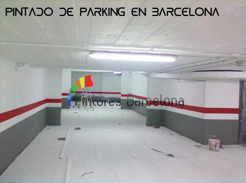Pintar parking en Barcelona