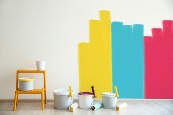 diferentes colores para pintar