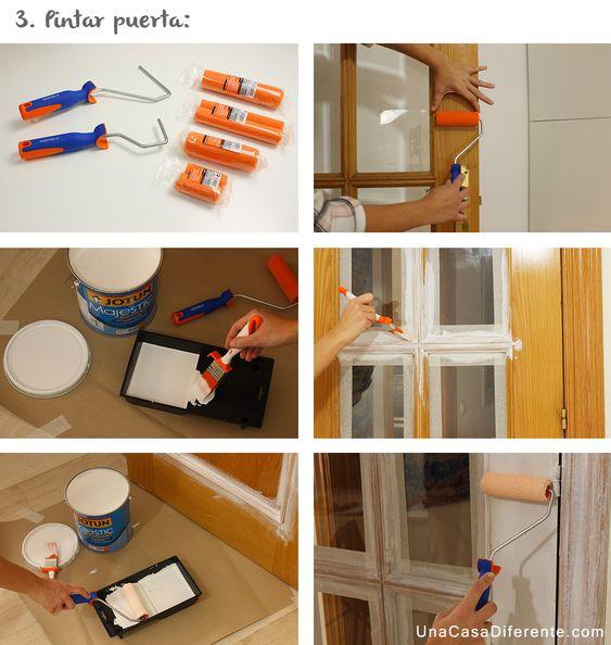 como pintar puertas