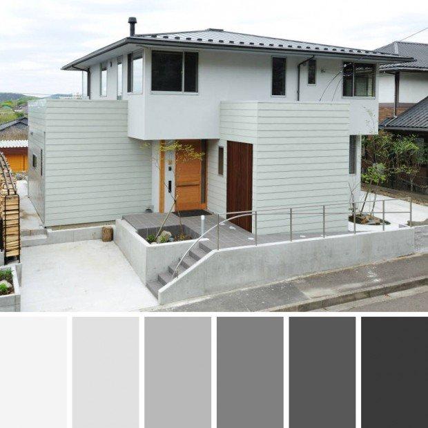 Color gris para chalet
