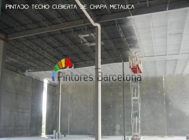 Pintar techo nave industrial Barcelona