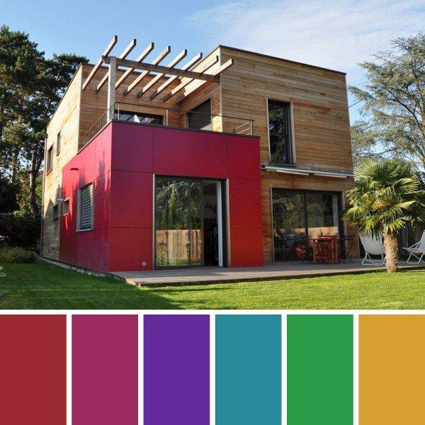 Colores intenso fachadas