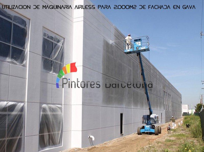 Pintura industrial Barcelona pintado de fachada
