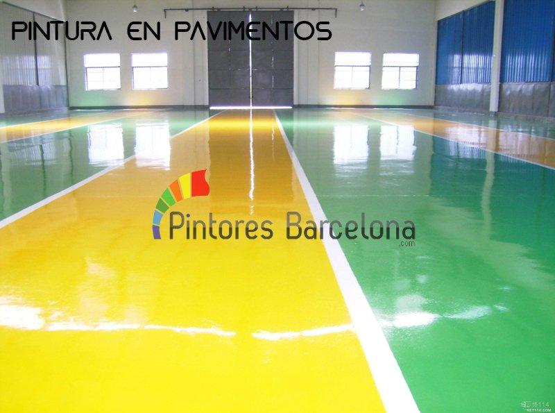 Pintores en Barcelona pavimentos