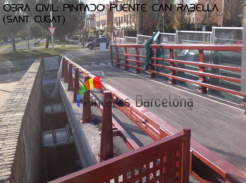 Pintores Barcelona pintado de puente