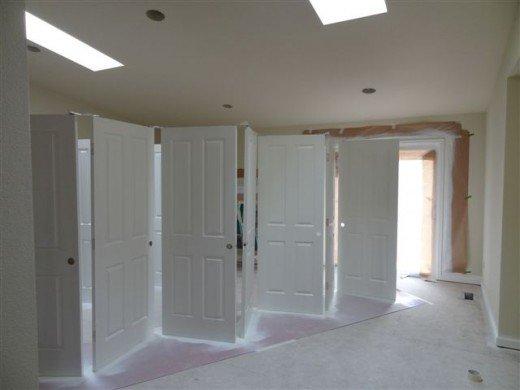 Puertas esmaltadas en blanco